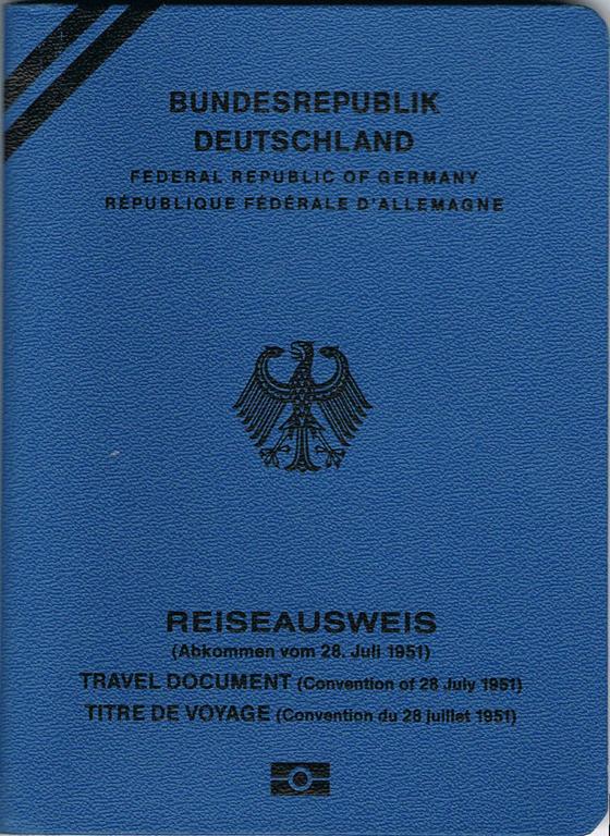 konventionspass deutschland - Anlage zum Abkommen über die Rechtsstellung der Flüchtlinge
